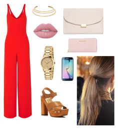 """""""night out"""" by alegaravito on Polyvore featuring Narciso Rodriguez, Dolce Vita, Kenneth Jay Lane, Lime Crime, Gucci, Mansur Gavriel, Michael Kors and Balmain"""