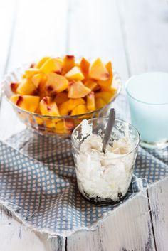 Yogurt gelato alla pesca #recipe