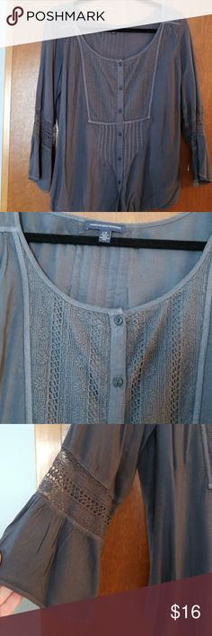 American Eagle top American Eagle grey top American Eagle Outfitters Tops Tunics