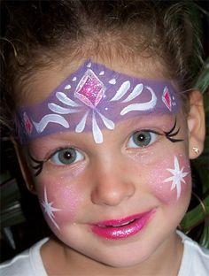 Trucco del viso per Carnevale per bambini da principessa n.3