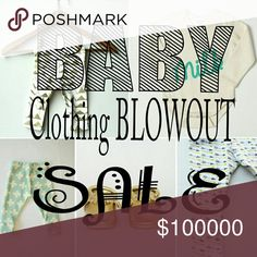 Baby Clothing || BLOWOUT SALE Huge sale on tons of clothing from Carter's, Koala Baby, Gerber and other brand names!! Carter's Other