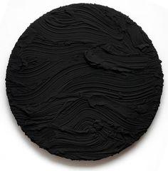 Jason Martin Black Tondo, 2010 Pure pigment on aluminium Diameter 165 cm (65 in)