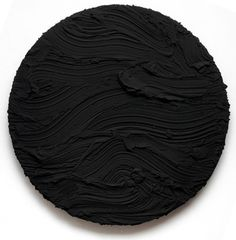 Jason Martin  Black Tondo, 2010  Pure pigment on aluminium  Diameter 165cm (65 in)