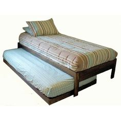 Wooden Twin Bed With Trundle I Bet This Could By DIY Casters Under