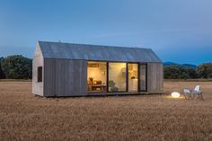 Construction in a controlled factory setting means these cozy cabins are not only space-efficient, but also carefully built.