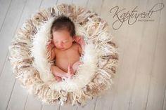 Winter Baby Fringe Newborn Baby Blanket Fringe Photo Prop Oatmeal Fringie 'Granola' by Baby Birdz