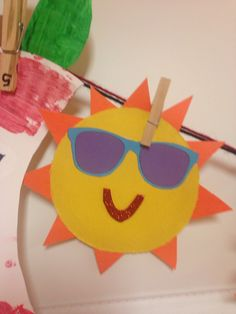 Sunshine sunglasses cut and paste construction paper