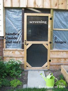 Wood Screen Door on Pinterest | Vintage Screen Doors