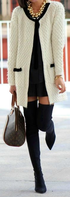 15 Style Ideas How To Wear Over The Knee Boots For Early Fall