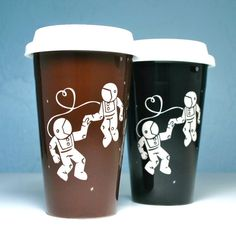 Astronaut Love Travel Mug - Bread and Badger Gifts