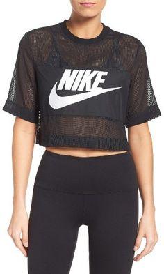 9f5a706c914 Women s Nike Sportswear Mesh Crop Top Nike Yoga Pants