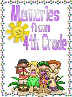 End of the Year Memory Book for Fourth Grade $5.00
