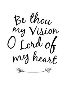 Be Thou My Vision  B
