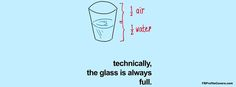 The glass is always full.