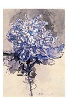 """""""Chrysanthemum"""", 1909, Piet Mondrian."""