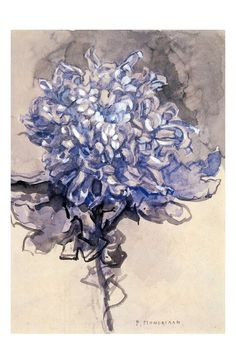 "Yes, Mondrian. been practicing looking at beautiful things. ""Chrysanthemum"", 1909, Piet Mondrian."