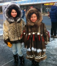 Lovely girls at Fur Rondy - Anchorage