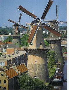 Molens in Schiedam