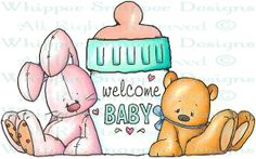 Welcome Baby - Baby Images - Baby - Rubber Stamps - Shop