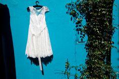AUDREY DRESS (short version whith sleeves) + SILK FLOWER HAIR ACCESSORY from A MODISTA /  PHOTOS: Daniela Leme danielaleme.wordpress.com/2013/01/29/aline-ale/   https://www.facebook.com/www.amodista.com.br