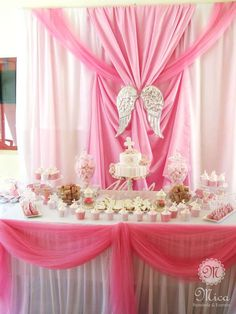 Pink Baptism Party Ideas | Photo 2 of 65