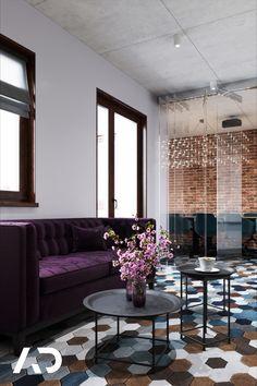📨  biuro@amadeusz.design 📞 +48 609 999 467   #office #sofa #violet #purple #purpurowa #fioletowa #nowoczesna #modern #abstract #amadeusz #design #amadeusz #design #amadeuszdesign #domart #architektwnetrz #projektowaniewnetrz  #architekturawnetrz #dobrzemieszkaj #interior #interiordesign #aranzacjawnetrz #domoweinspiracje #architecture #wystrój #wnętrz #homedecor #home #decor #beauty Couch, Studio, Home Decor, Furniture, Design, Decoration Home, Room Decor, Sofas, Studios