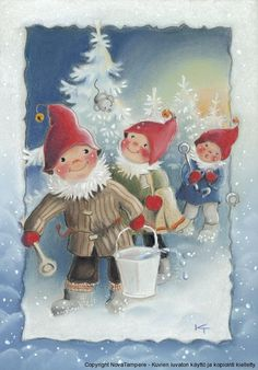 special noel - Page 3 Swedish Christmas, Christmas Gnome, Scandinavian Christmas, Christmas Art, Vintage Christmas, Illustration Noel, Illustrations, Baumgarten, Childrens Christmas