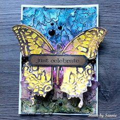 Made by Sannie: Butterfly Easter card with video tutorial