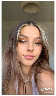 millieleer tiktok - Google Search Natural Glam Makeup, Pale Skin Makeup, Blonde Hair Makeup, Brunette Makeup, Makeup For Brown Eyes, Eye Makeup, Fresh Makeup, Birthday Makeup Looks, Wedding Makeup Looks