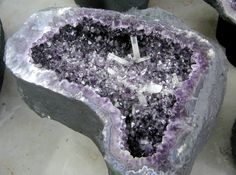 Amethyst Geode table from Brazil. Would make a fantastic end table in my master bath next to the garden tub.