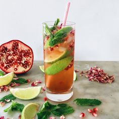 POMEGRANATE, MINT AND ROSE SPRITZ 5