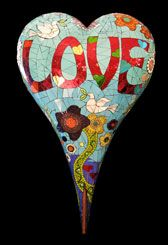 "Really beautiful!    ""Peace and Love"" by artists Ivy Johnson and Beth Johnson Silverman"