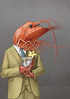 Heston - Waitrose — Bob Venables Illustration Kunst Inspo, Art Inspo, Art And Illustration, Fantasy Kunst, Fantasy Art, Arte Peculiar, Weird Art, Quirky Art, Animal Heads