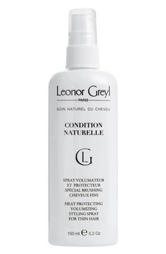 Free shipping and returns on Leonor Greyl PARIS 'Condition Naturelle' Heat Protective Styling Spray for Thin Hair at Nordstrom.com. Condition Naturelle Heat Protective Styling Spray by Leonor Greyl PARIS is a leave-in conditioner that protects your hair from the damaging effects of heat and styling tools. It adds volume and shine without weighing your locks down and detangles to protect against the harmful effects of blow drying. It also facilitates brushing and protects your hair from…