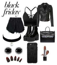 """""""Black Shadow"""" by lulu0205 ❤ liked on Polyvore featuring J.TOMSON, IRO, Nobody Denim, Off-White, Thomas Sabo, Casetify, Avon, contest and blackfriday"""