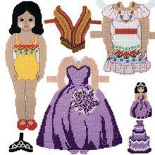 Plastic Canvas: Sofia Paper Doll   - Herrschners