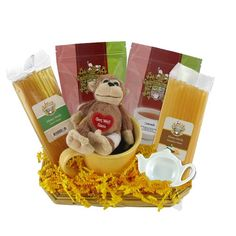 Get Well Soon Gift Basket with Stuffed Toy http://www.englishteastore.com/soups-on-get-well-gift-basket.html