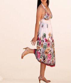 Women garden  floral dresses/prom Sun dress/summer strap by Zayade, $39.90