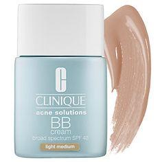 I've got to try this! CLINIQUE - Acne Solutions BB Cream Broad Spectrum SPF 40  in Light Medium #sephora