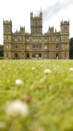 Highclere Castle is a country house in the Jacobethan style, with a park designed by Capability Brown. The estate is in Hampshire, England. Highclere Castle is the film location for the hugely successful Downton Abbey television series. Downton Abbey, Beautiful Castles, Beautiful Buildings, Famous Castles, England And Scotland, British Isles, Oh The Places You'll Go, Brighton, United Kingdom