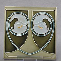 Art Nouveau Tile Boizenburg Calla 1900