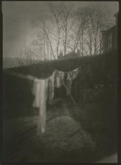 Washing on the line.  Copyright Andrew Sanderson.  Black and white, analogue, film, darkroom. www.andrewsanderson.com www.thewebdarkroom.com