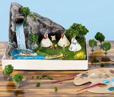 Add a historical accent to your dioramas and school projects with… History Projects, School Projects, Projects For Kids, Art Projects, Native American Projects, Native American Tribes, Native Americans, Bible School Crafts, Preschool Crafts