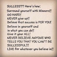 A few tips on success