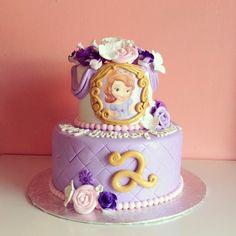 Sofia the first Birthday Cake! by 2tarts Bakery / New Braunfels, Texas / www.2tarts.com