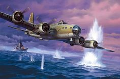 Close Call, by Roy Grinnell (B-17F) *Repin by Tburg*