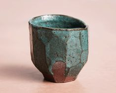 Jade green cup. Raku inspired ceramics by Laura Allen Müller. Every item is unique and handcrafted in Copenhagen.