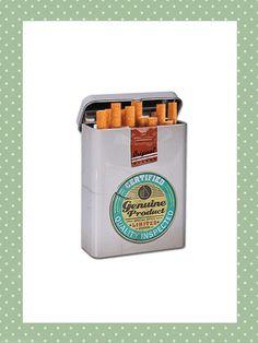 porta sigarette metallo stile vintage retro style