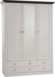 Monaco Pine 2+1 Door 2+2 Drw Robe are finished with veneer for giving ravishing effects. Read more at http://solidwoodfurniture.co/product-details-pine-furnitures-2042-monaco-pine-door-drw-robe.html