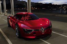 The Renault DeZir Concept Car
